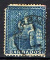 BARBADOS - 1871 - BRITANNIA - USATO - Barbados (...-1966)