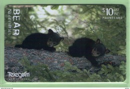 New Zealand - Chipcards - 2002 The Bear Necessities - $10 Black Bear - VFU - Card 090 - New Zealand