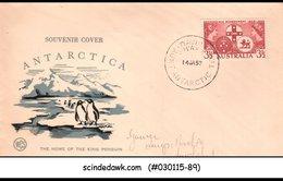 AUSTRALIA - 1957 ANTARCTICA - SOUVENIR COVER WITH CANCELLATION - Postal Stationery