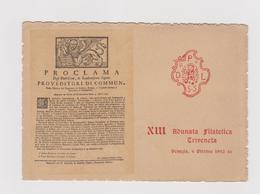 XIII° Adunata Filatelica Triveneta, Venezia 4 Ottobre 1942, Cartolina Ufficiale Con Annullo   - F.G. - Esposizioni Filateliche