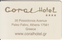 GREECE - Coral, Hotel Keycard, Sample(no Chip) - Hotel Keycards