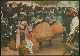Postal Guiné Portugal - Guiné Portuguesa - Dança De Defuntos Em Bijagós - CPA - Postcard - Guinea-Bissau