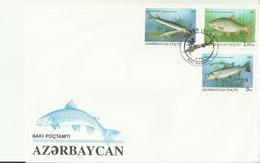 ASERBAIDSCHAN FDC FISCHE - Azerbaïjan