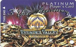 Thunder Valley Casino - Lincoln, CA - BLANK 3 Yr Anniv Platinum Slot Card - Casino Cards