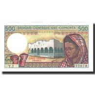 Billet, Comoros, 500 Francs, 1986, KM:10a, NEUF - Comoros