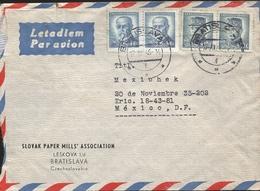 L) 1946 CZECHOSLOVAKIA, GEN. MILAN STEFANIK, 10K, MASARYK, POLITICAN, PRESIDENT, BLUE, 4KCS, AIRMAIL, CIRCULATED COVER - Czechoslovakia