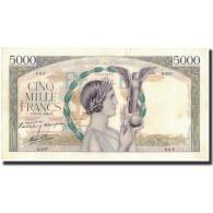 France, 5000 Francs, 5 000 F 1934-1944 ''Victoire'', 1939-10-12, SUP - 1871-1952 Anciens Francs Circulés Au XXème