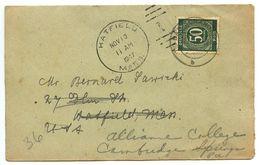 Germany 1947 Cover Bad Schandau To Hatfield, Massachusetts, Scott 551 - Amerikaanse, Britse-en Russische Zone