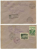 Poland 1948 Registered Cover Tykocin To Hatfield, Massachusetts, Scott 414 & C24 - 1944-.... Republic