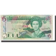 Billet, Etats Des Caraibes Orientales, 5 Dollars, 1993, KM:26l, SPL - Caraïbes Orientales