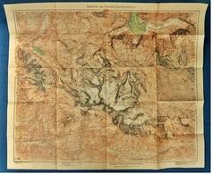 1915  -  Topographische Karte  -  Dachsteingruppe / Dachstein  -  Ca. 91 X 77 Cm - Topographische Karten