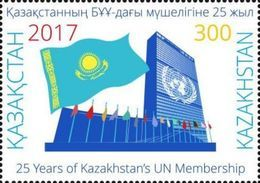 Kazakhstan 2017.Stamp.25 Years Of Kazakhstan Membership In The UN. NEW!!! - Kazakhstan