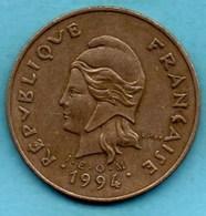 (r65)  NEW CALEDONIA 100 Francs 1994 NOUVELLE CALEDONIE - New Caledonia