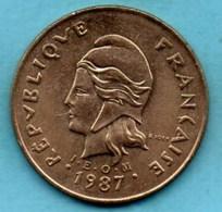 (r65)  NEW CALEDONIA 100 Francs 1987   NOUVELLE CALEDONIE - New Caledonia