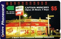 Australie Australia Telecarte Phonecard à Trous 5 $ Captain Munchies Coca Cola Freemantle Western Neuve Mint TBE - Australia