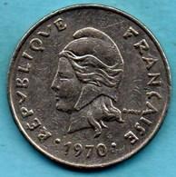 (r65)  NEW CALEDONIA  20 Francs 1970   NOUVELLE CALEDONIE - New Caledonia