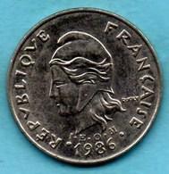 (r65)  NEW CALEDONIA  20 Francs 1986   NOUVELLE CALEDONIE - New Caledonia