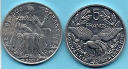 (r65)  NEW CALEDONIA  5 Francs 2001   NOUVELLE CALEDONIE - New Caledonia