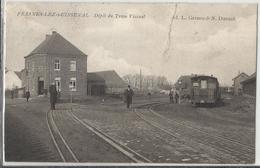 Frasnes-lez-Buissenal Dépôt Du Tram Vicinal 1907 (carte Rare, Mais Voir état) - Frasnes-lez-Anvaing