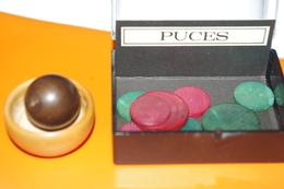 JEU MINIATURE LES PUCES En BOIS / MARC VIDAL FRANCE - Group Games, Parlour Games