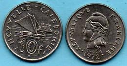(r65)  NEW CALEDONIA  10 Francs 1972   NOUVELLE CALEDONIE - New Caledonia