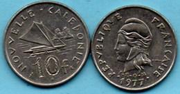 (r65)  NEW CALEDONIA  10 Francs 1977   NOUVELLE CALEDONIE - New Caledonia