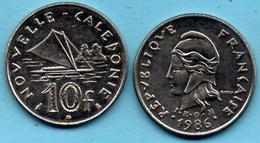(r65)  NEW CALEDONIA  10 Francs 1986   NOUVELLE CALEDONIE - New Caledonia