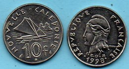 (r65)  NEW CALEDONIA  10 Francs 1998   NOUVELLE CALEDONIE - New Caledonia