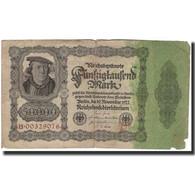 Billet, Allemagne, 50,000 Mark, 1922-11-19, KM:80, B+ - [ 3] 1918-1933 : Repubblica  Di Weimar
