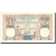France, 500 Francs, 1 000 F 1927-1940 ''Cérès Et Mercure'', 1939-11-16, SUP - 1871-1952 Circulated During XXth