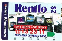 Australie Australia Telecarte Phonecard Privee Rentlo Frigidaire Fridge Tv Tele Location Neuve Mint TBE - Australie