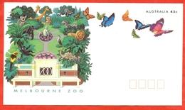 Australia 1994.Melburne Zoo. Butterflies. Envelope With Printed Original Stamps. - 1990-99 Elizabeth II