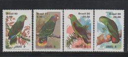 BIRDS 1980 BRAZIL Lubrapex (Parrots) Set SG 1866-9 MNH Set - Parrots