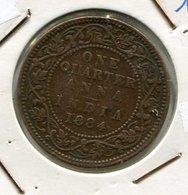 INDE : 1/4   ANNA   1884   INDIA - India