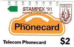 Australie Australia Telecarte Phonecard Privee Stampex 91 Wayville Oiseau Neuve Mint Usage Courant - Australia