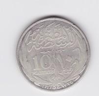 10 Piastres   Egypte  1917  Argent  TTB - Egypt