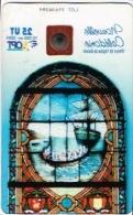 Phonecard Telecarte Nouvelle Caledonie Noumea Transparente Vitrail Balade Navire Missionnaire NC123 Cote 20 Ut TB - Nieuw-Caledonië