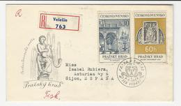 Cover * Czechoslovakia * 1966 * Registered - Tschechoslowakei/CSSR