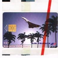 Nouvelle Caledonie Telecarte Phonecard Prive NC32 Numérotee Air France Concorde Noumea Neuve TB - New Caledonia