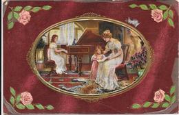 CPA COLORISEE FANTAISIE -  Leçon De Piano  - DRO/SAL - - Vrouwen
