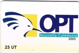 Nouvelle Caledonie Telecarte Phonecard NC 107 Logo Opt Cagou Oiseau 5000 Ex Us Courant - New Caledonia