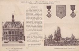 CPA Lens, L'Hôtel De Ville Avant Et Apres La Guerre (pk47437) - Lens
