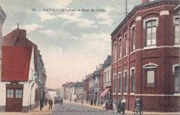 CPA Lens, Hôpital Et Rue De Lille (pk47444) - Lens