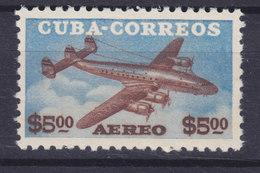 Cuba 1953 Mi. 394    5 P Flugzeug Aeroplane Lockheed Super Constellation MNH** - Cuba