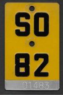 Velonummer Mofanummer Solothurn SO 82 - Plaques D'immatriculation