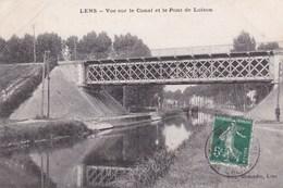 CPA Lens, Vue Sur Le Canal Et Le Pont De Loison (pk47452) - Lens