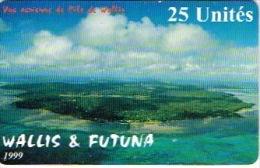 Phonecard Telecarte WALLIS ET FUTUNA Vue Aerienne Ile 1999 WF16  Carte Fragile Us Courant - New Caledonia