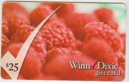 GIFT CARD - USA - WINN DIXIE-002 - RASPBERRY - Gift Cards