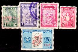 Guatemala-0123 - Emissione 1948-1949 (+/o) LH/Used - - Guatemala