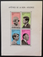 Gabon 1969 In Honor Exponents Of Non-violence S/S - Gabon